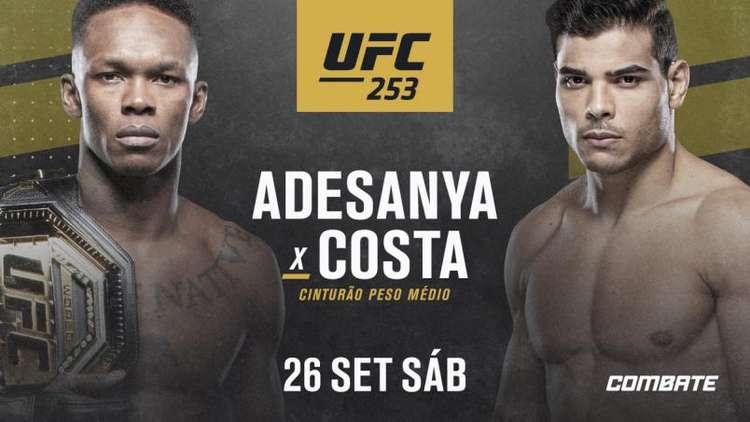 Assistir UFC 253: Adesanya x Borrachinha  ao vivo online 26/09/2020