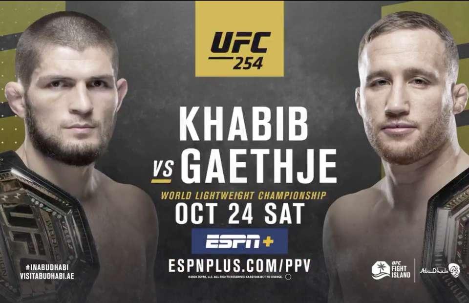 Assistir UFC 254 AO VIVO Online Grátis