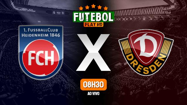 Assistir Heidenheim x Dynamo Dresden ao vivo online 12/09/2021 HD