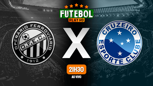 Assistir Operário-PR x Cruzeiro ao vivo online 20/10/2020 HD