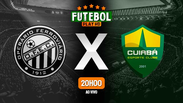 Assistir Operário-PR x Cuiabá ao vivo 22/09/2020 HD