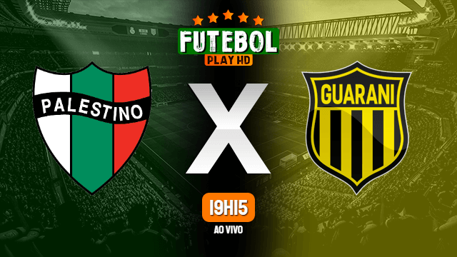 Assistir Palestino x Guaraní-PAR ao vivo online HD 20/02/2020