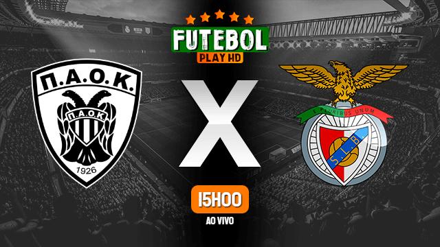 Assistir PAOK x Benfica ao vivo 15/09/2020 HD online