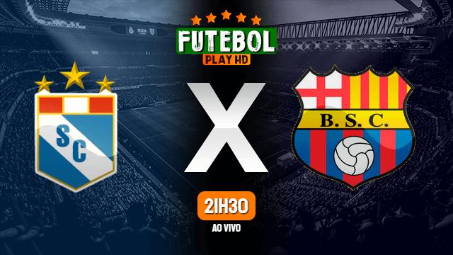 Assistir Sporting Cristal x Barcelona de Guayaquil ao vivo online HD 13/02/2020